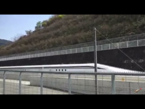Checking out Japan's new maglev train on a test run