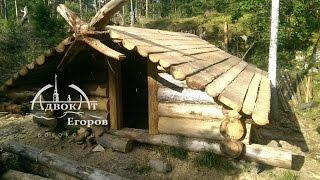 видео Деревянный дом в лесу