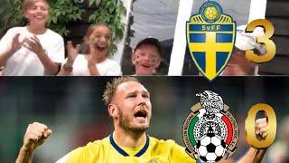 REAGERAR LIVE PÅ ANDREAS GRANQVIST MÅL MOT MEXIKO! | Sverige-Mexiko 3-0 VM I RYSSLAND 2018