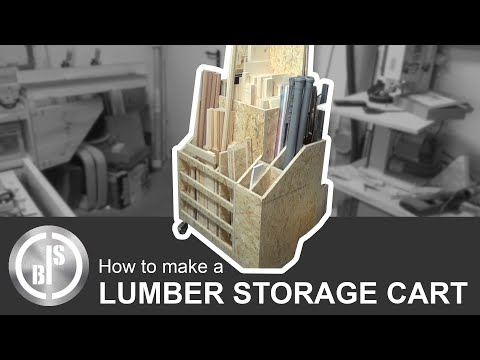 UNBELIEVABLE what fits in there | How to make a Lumber Storage Cart