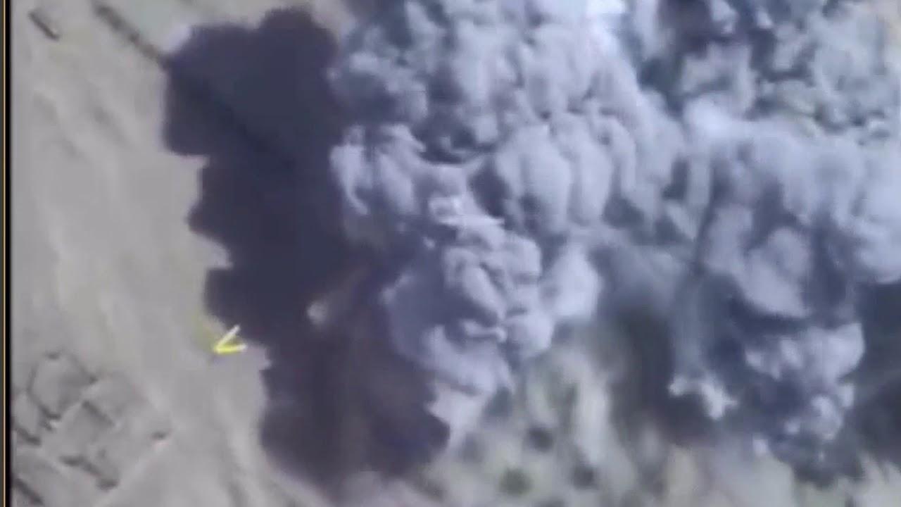 Удары ВКС России по позициям боевиков ИГ на восточном берегу Евфрата