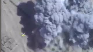 Нанесение авиаудара ВКС РФ по штабу террористов в Сирии