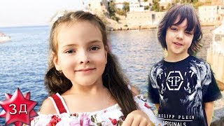 ГРЕЧЕСКИЕ КАНИКУЛЫ детей Филиппа Киркорова! Мартин и   Алла-Виктория в Греции, июль 2018 года!