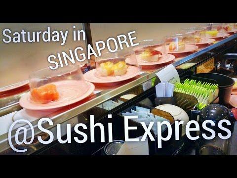 Sushi Express in Singapore! 🇸🇬