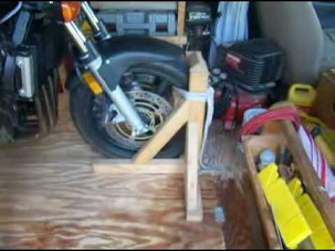 Home made front wheel chock. - YouTube