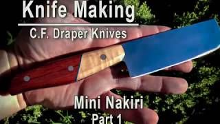 Knife Making - Nakiri Japanese knife part 1 - How to make a knife