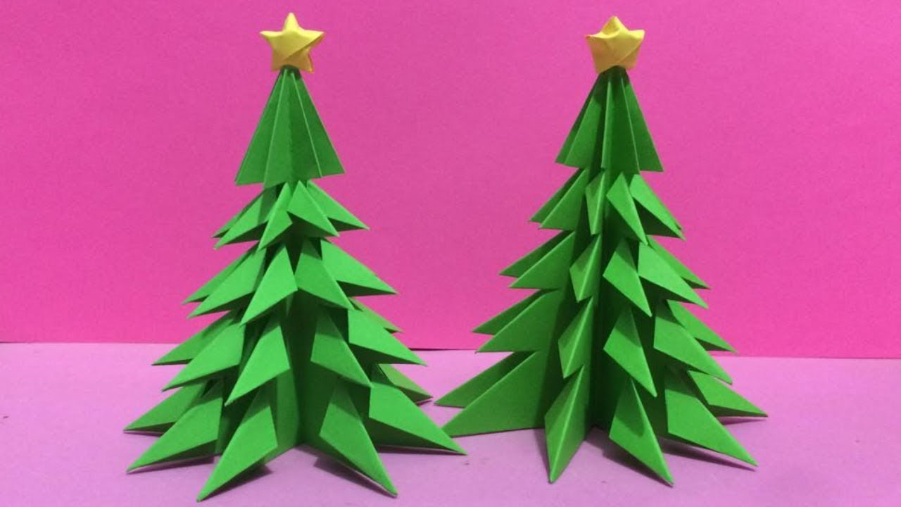Origami Pine Tree Instructions | 720x1280