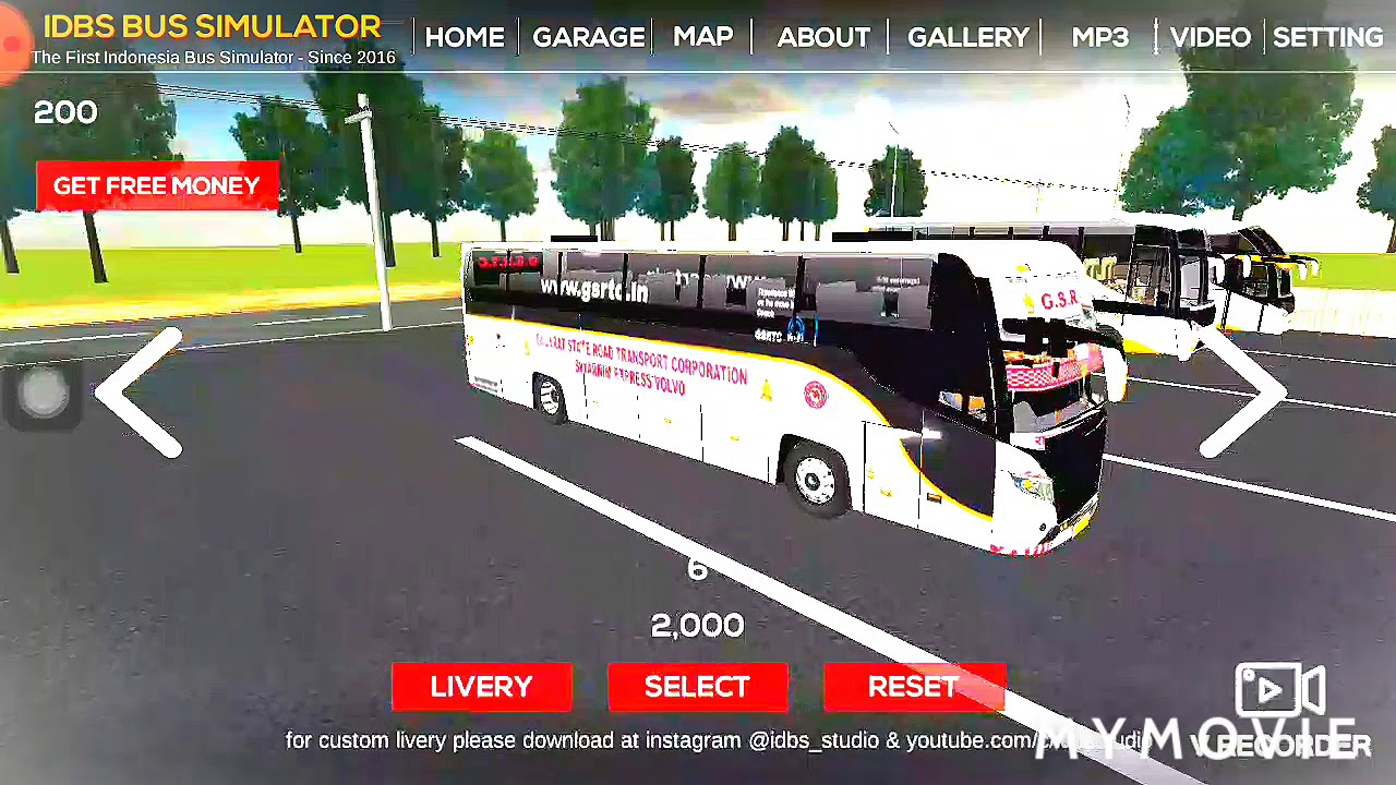 Gsrtc St Bus Mod Livery Skin Bussid Idbs Bus Simulator Indonesia Game Youtube