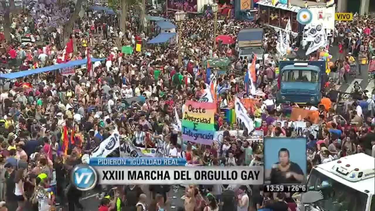 Vision 7 Marcha Del Orgullo Gay En El Centro Porteno Youtube