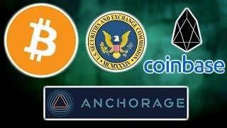 BITCOIN Hits $9,000 Then Pulls Back - SEC Forum - Anchorage Crypto Custody Insurance - Coinbase EOS