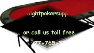 10 Player Folding Poker Table From Straight Poker Supplies