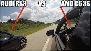 Audi RS3 Vs Mercedes AMG c63s - Which is faster ?