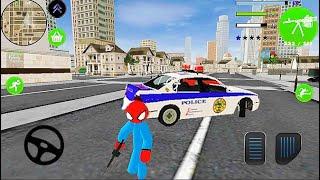 Spider Stick Man #1-Spider Police -Android Gameplaying [스파이더 스틱맨 #1 - 스파이더 경찰 - 안드로이드 게임]