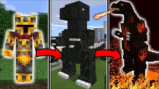 LIFE AS GODZILLA IN MINECRAFT !! BECOME THE BIGGEST MONSTER IN MINECRAFT !! Minecraft Mods