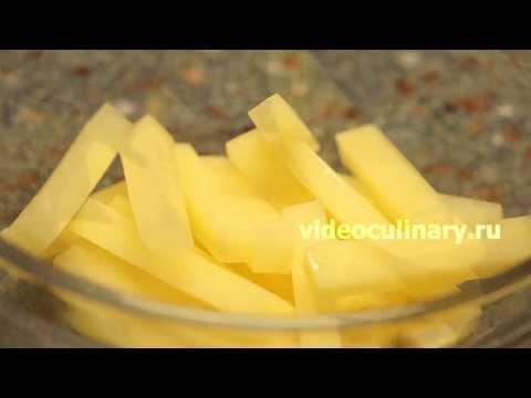Как нарезать картошку ломтиками