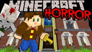 "Minecraft 1.8: Amazing Horror Map! ""---"" Scary Haunted House Adventure New Puzzle Mystery PART 1"