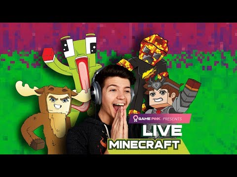 GAME PINK LIVE! Minecraft Charity Stream with Unspeakable, Moose, and Logdotzip!