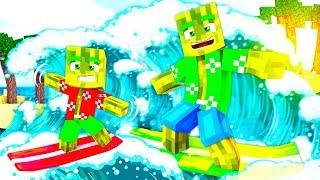 1 TAG SURFEN auf EINEM TSUNAMI?! - Minecraft [Deutsch/HD]