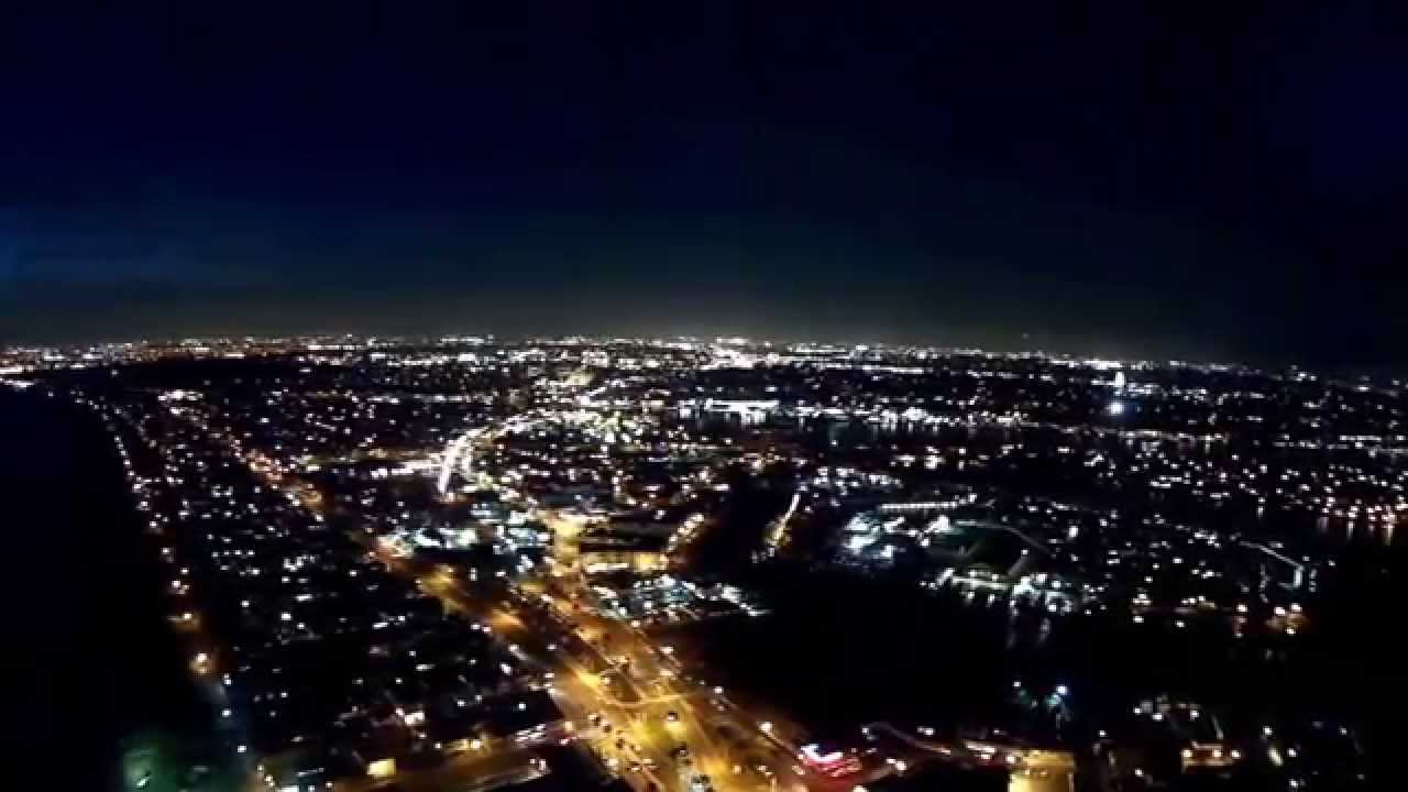 Aerial View Of Newport Beach At Night