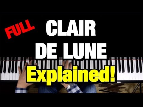 Debussy Clair De Lune Piano Tutorial