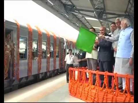 PM Narendra Modi flags off Udhampur- Katra railway line