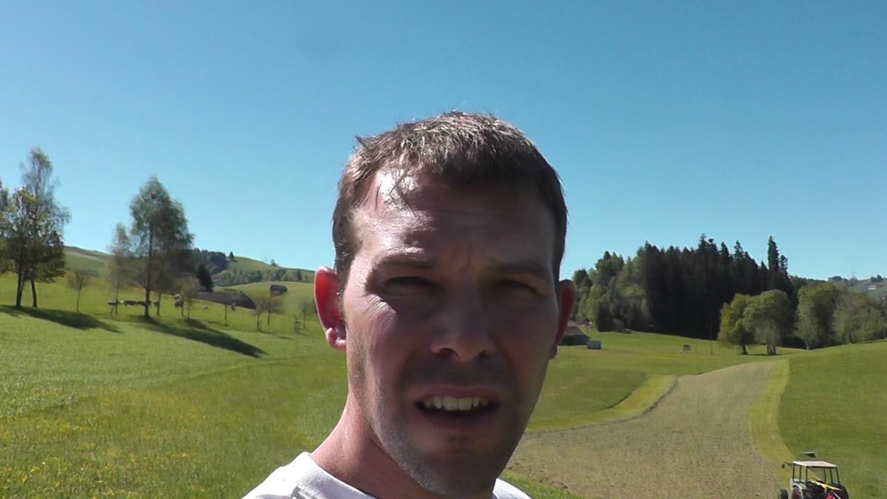 Gesät  Luzerne-Gras Mischung mit Geohobel gesät - YouTube