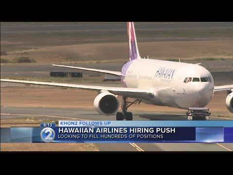 Hawaiian Airlines hiring in anticipation of new aircraft, flights