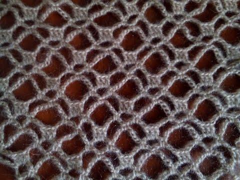 Узор для шали Паучки крючком.( pattern to crochet shawl) (узор#6)