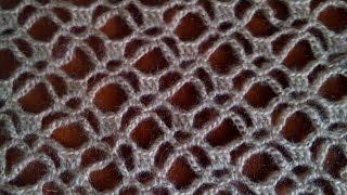 Ажурная шаль крючком. Мастер-класс узора. Shawl crochet