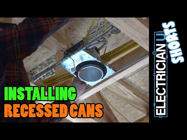 SHORT - How to Install Recessed Cans