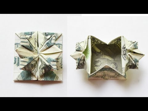 Amazing Money BOX for gift Origami Dollar Tutorial DIY Folded No glue and tape