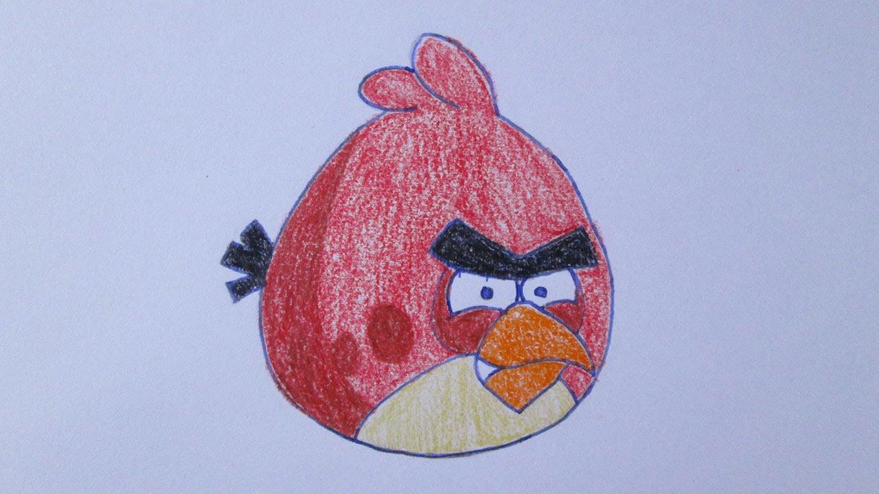 Como Desenhar O Pássaro Vermelho De Angry Birds: Como Desenhar O Pássaro Vermelho (Red Bird) De Angry Birds