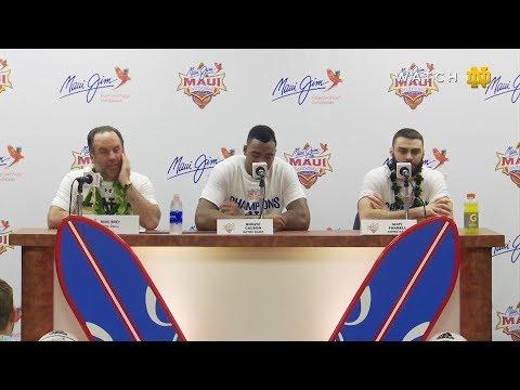 @NDMBB: Post-Game Press Conference vs Wichita State 2017