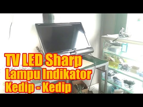 TV LED Sharp lampu indikator kedip kedip thumbnail