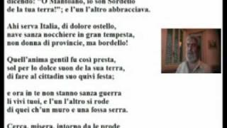 Claudio Martino legge il sesto canto del Purgatorio di Dante Alighieri