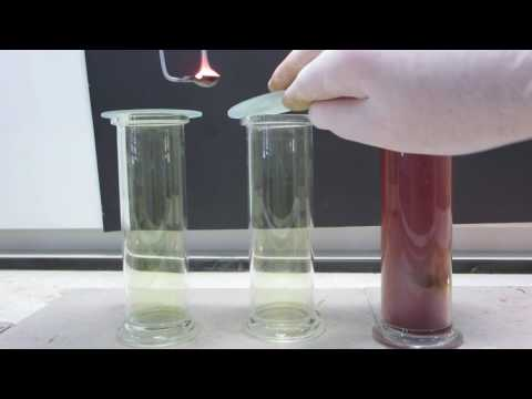 Burning lithium, sodium and potassium in chlorine gas