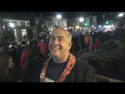 Christmas Tree Lighting Ceremony and tractor parade of lights Orangeville Ontario