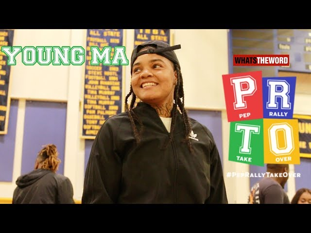 Young M.A. Invades Thornwood High school : HotRods #PeprallyTakeOver Ep.2