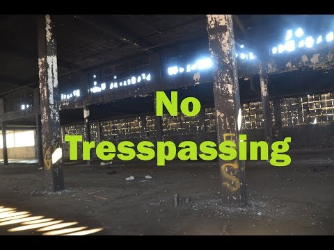 No Trespassing: Urban explorer, uses drone,  abandoned foundry