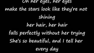 Bruno Mars - Just the way you are lyrics