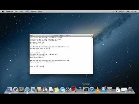 How to Shutdown Mac Using Terminal