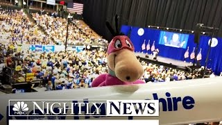 Through the Eyes of a Stuffed Dinosaur: The 2016 Presidential Campaign | NBC Nightly News
