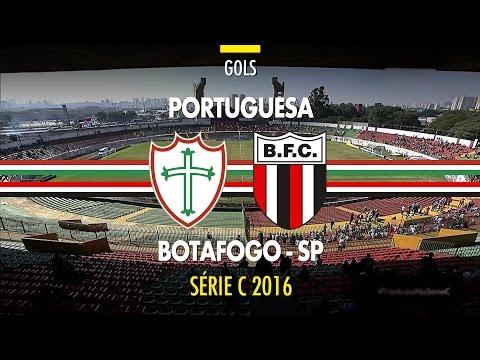 Gols - Portuguesa 0 x 5 Botafogo - Série C - 12/06/2016