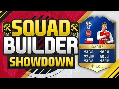 FIFA 17 SQUAD BUILDER SHOWDOWN!!! TEAM OF THE SEASON SANCHEZ!!! Alexis Sanchez Squad Builder Duel