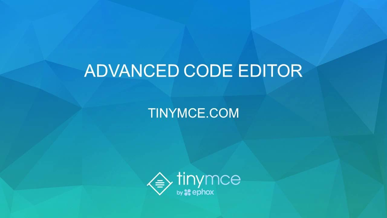 TinyMCE's Advanced Code Editor