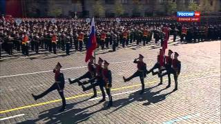 HD Russian Army Parade Victory Day, 2013 Парад Победыipad) - Flag march