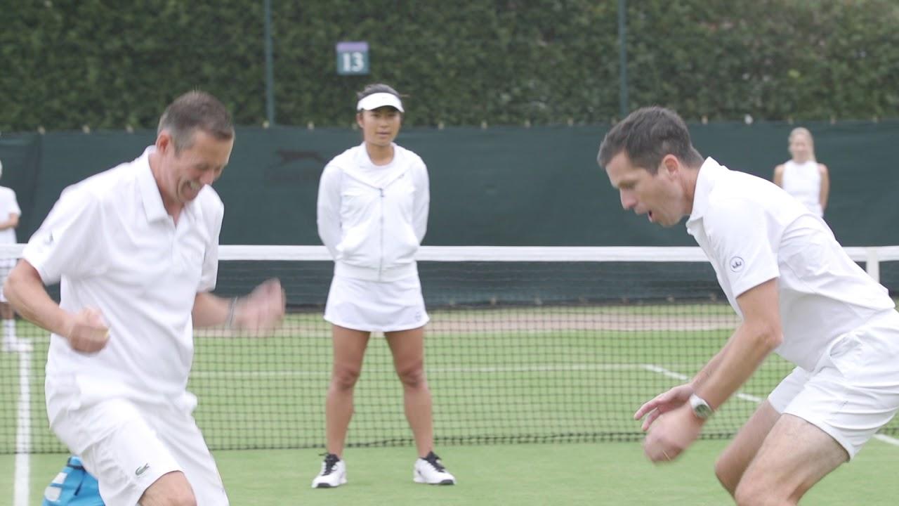 Road to Wimbledon: Tim Henman's tennis clinic