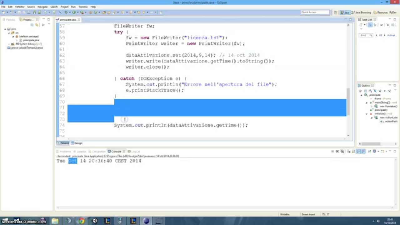 Tutorial 41 - License control with dates (1 of 2) (Java) (ITA - SUB ENG)