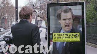 France's road safety agency is running a campaign using billboards ...