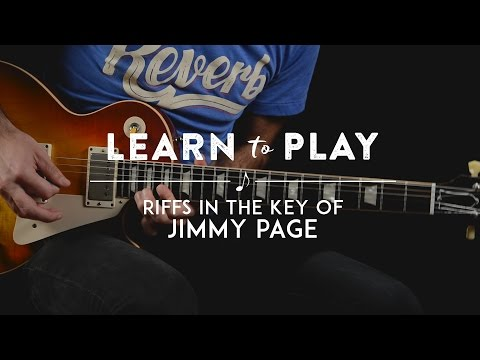 Learn to Play: Riffs in the Key of Jimmy Page Lesson on Guitar